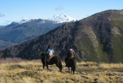 Horse back-ridding with rural communities in the south of Chile
