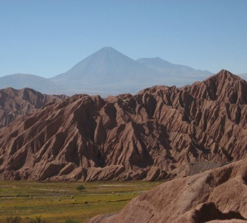 View of the Catarpe valley, just north of San Pedro in Atacama Desert