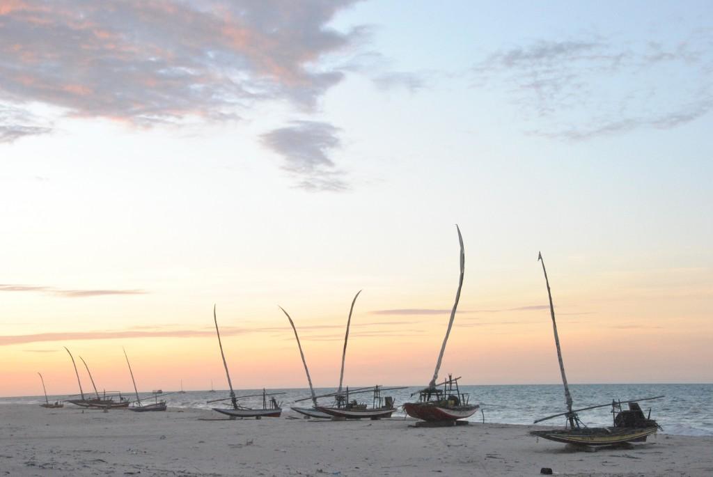 Jangadas on the beach at Prainha do Canto Verde - Brazil