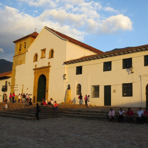 Beautiful colonial main square in Villa de Leyva