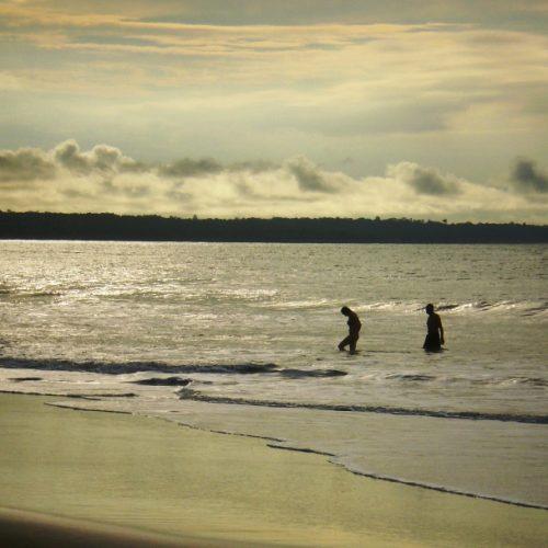 Beach at the Ruta del Sol (Sun Route) in Ecuador