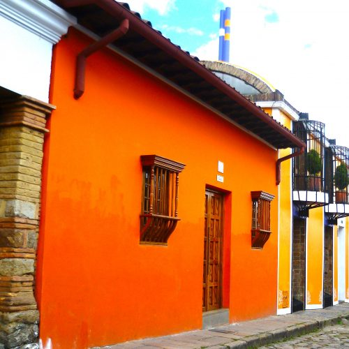 Colourful La Candelaria, in Bogota centre, Colombia