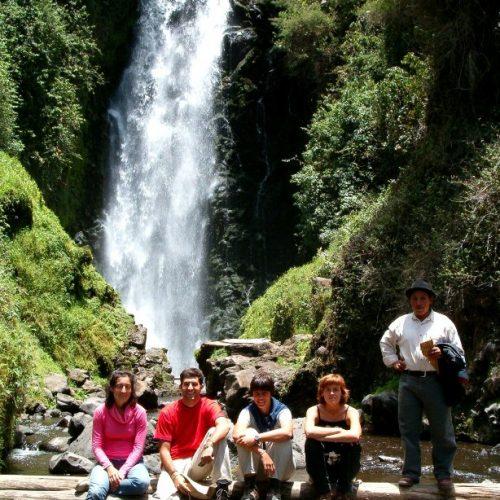 In the Peguche Waterfall, Ecuador