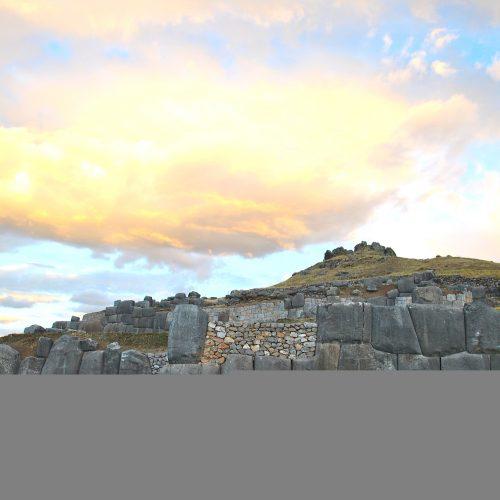 Inca temple ruins near Cusco, Peru