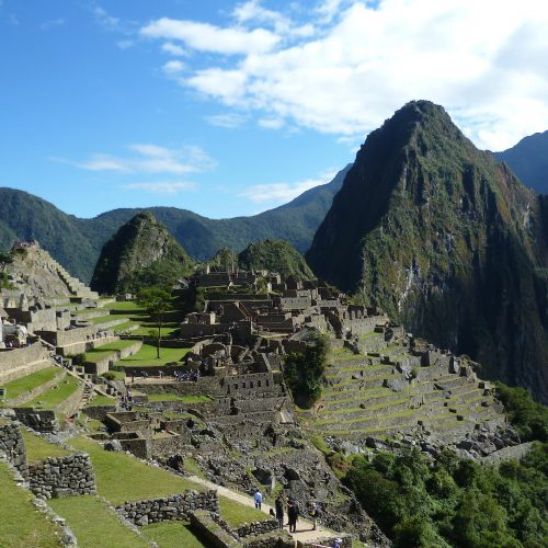 Inside Machu Picchu, near Cusco, Peru