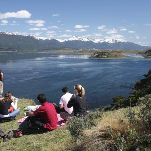 Landscapes during an excursion in the Beagle Channel, near Ushuaia in Argentina