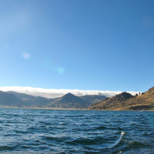 Navigating on the Lake Titicaca, between Peru and Bolivia
