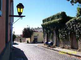 During a city tour in Colonia del Sacramento, Uruguay