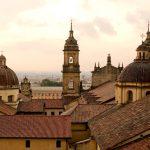 Colonial-style architecture in Bogota city centre, Colombia