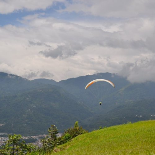 Paragliding over Bucaramanga, Santander, Colombia