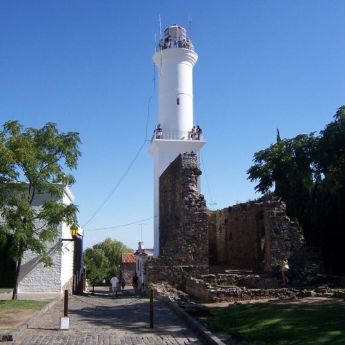 The cobbled streets of Colonia del Sacramento, Uruguay