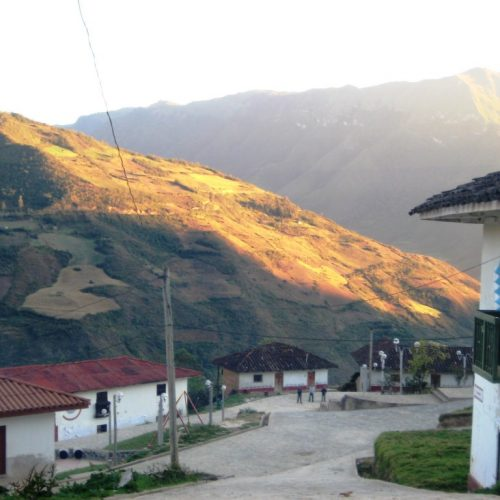 Maria Village in the Northern Peru section of the Andes Mountains.