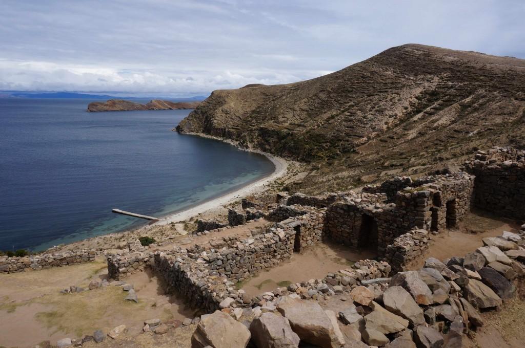 Inca ruins in Sun Island, Lake Titicaca, Bolivia