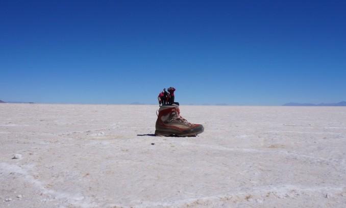 Lost in a shoe, Uyuni Salt Flat, Bolivia