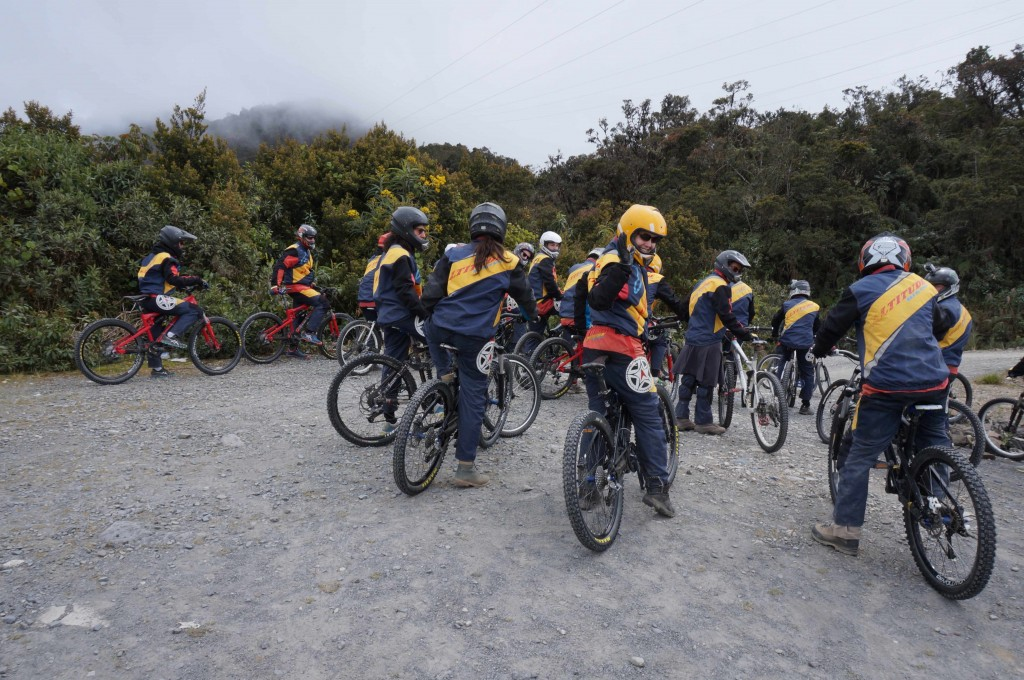 Preparing for the Death Road, near La Paz