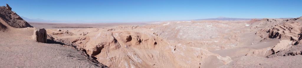 Panoramic view of the Atacama Desert in Chile