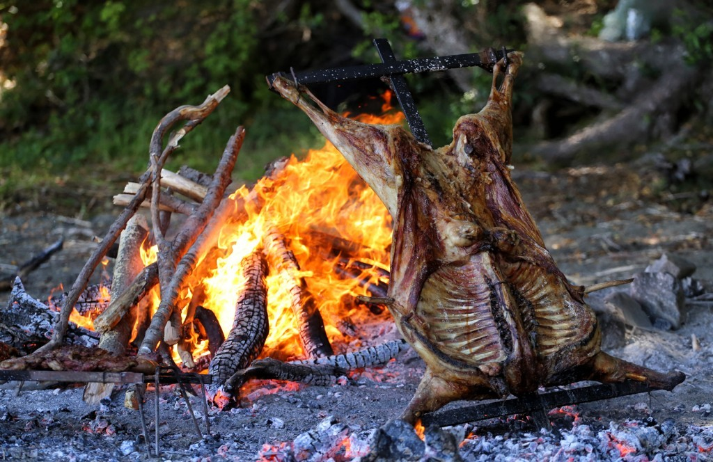 Traditional Patagonia roast lamb