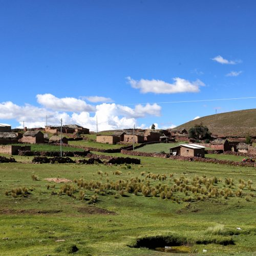 The village of Chunu Chununi in Bolivia