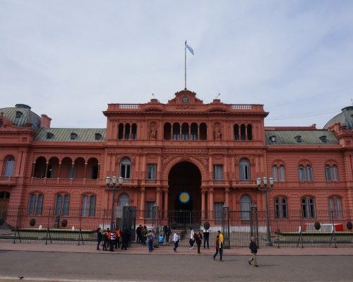 The famous Pink House in Buenos Aires where the president makes all the important decisions, Argentina