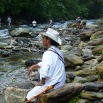 Crossing rivers and creeks during the Lost City Hike