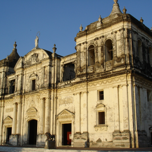 The stunning Leon Cathedral in Nicaragua