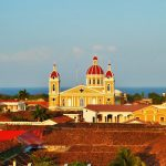 Stunning views of Granada Catherdral and Lake Nicaragua from the tower of Church of Nuestra Senora de las Mercedes
