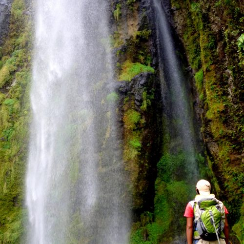 Hiking to Arcoiris waterfall, Penas Blancas nature reserve in Nicaragua