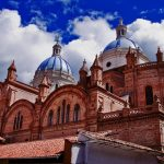 The impressive brick and tile Cathedral of the Immaculate Conception of Cuenca, Ecuador