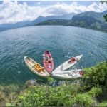 Kayaking on the impressive Atitlan Lake, Guatemala