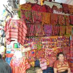 A colourful stand at the Chichicastenango market, Guatemala