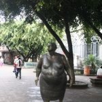 A monument that represents the street sellers of San Jose, Costa Rica