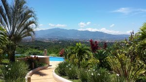 Views of the Central Valley of Costa Rica on a sunny day