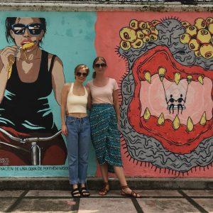 Touring the City art streets of Barrio La California, San Jose, Costa Rica.