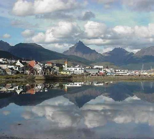 A view of town at Ushuaia, Argentina
