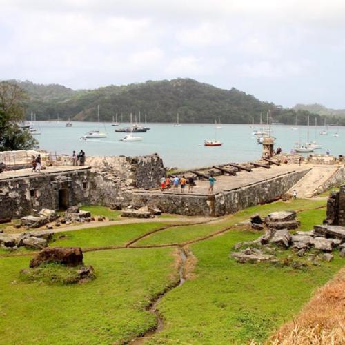 Visiting the Portobelo ruins in Panama