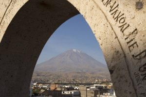 A classic postcard- Arequipa from the Yanahuana's viewpoint, with the Misti Volcano in the background