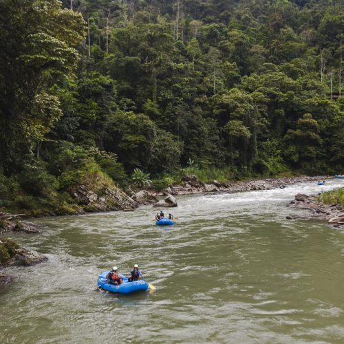 Rafting down the world-famous Pacuare River to get into the Ave Sol River Sanctuary in Costa Rica