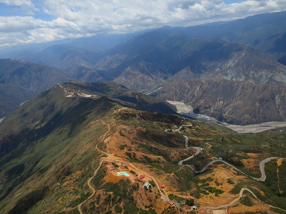 Aerial view of the Chicamocha Canyon, near Bucaramanga in Colombia